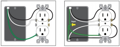 how to install a usb wall receptacle basic receptacle wiring connect the wiring to the usb receptacle with the correct polarity black wire on the brass terminal screw, white wire on the silver terminal screw,